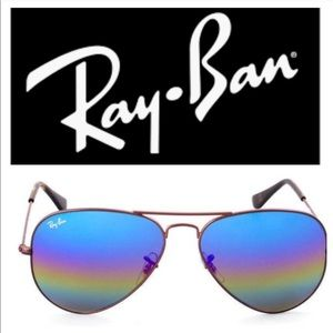 Ray-Ban Aviator Mineral Flash Lens Rainbow